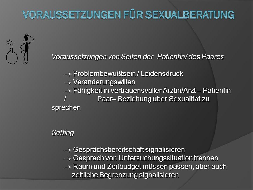 Voraussetzungen für sexualBeratung