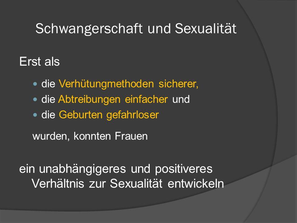 Schwangerschaft und Sexualität