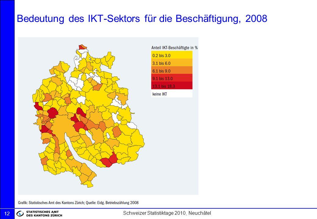 Bedeutung des IKT-Sektors für die Beschäftigung, 2008