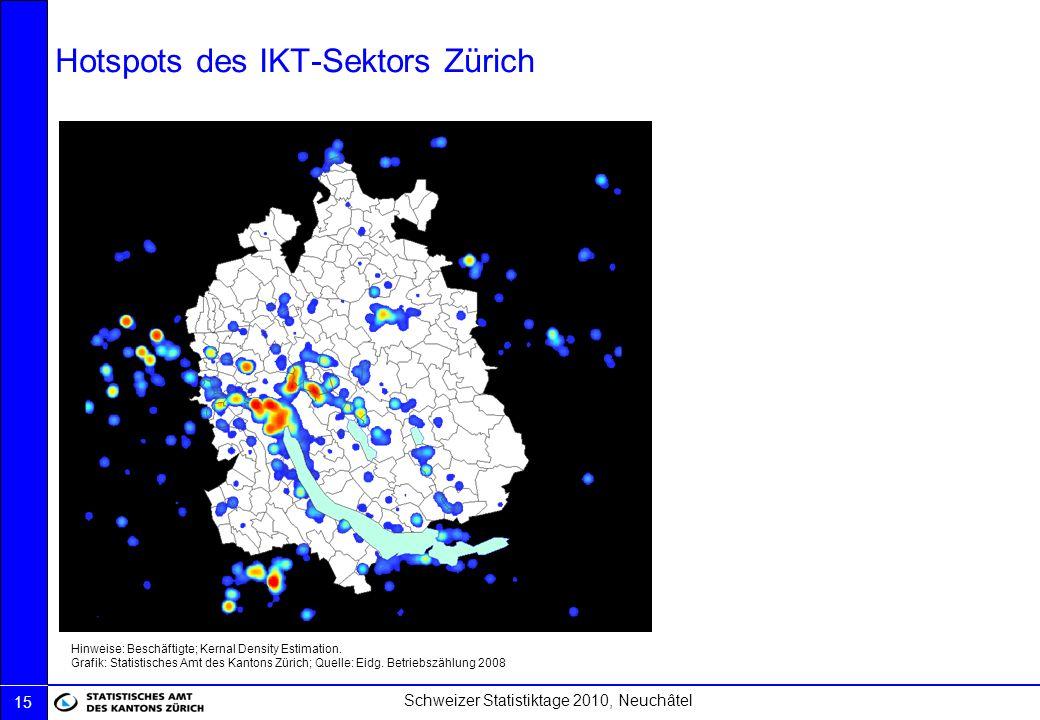 Hotspots des IKT-Sektors Zürich