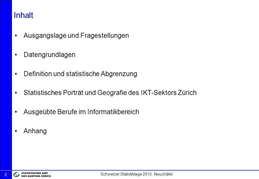 Inhalt Ausgangslage und Fragestellungen Datengrundlagen