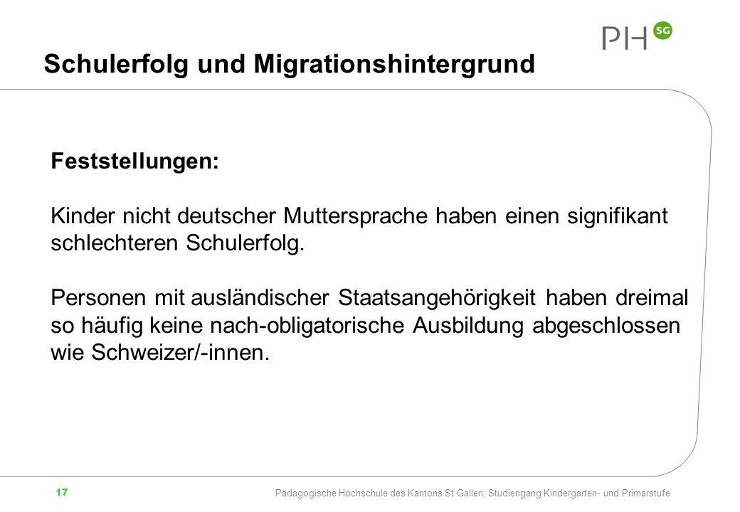 Schulerfolg und Migrationshintergrund