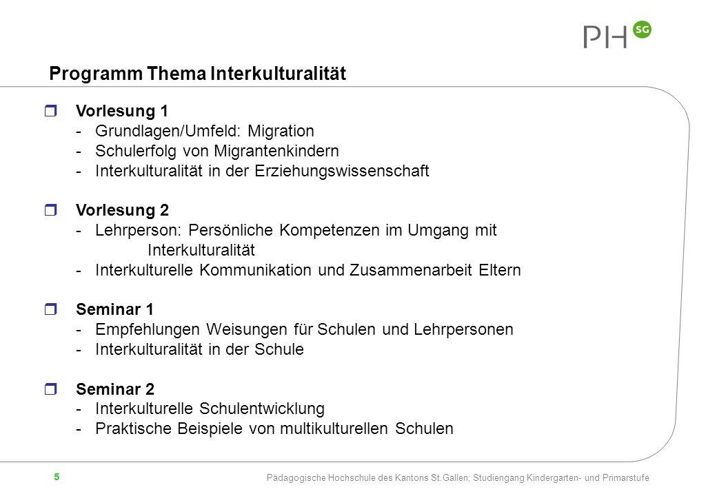 Programm Thema Interkulturalität