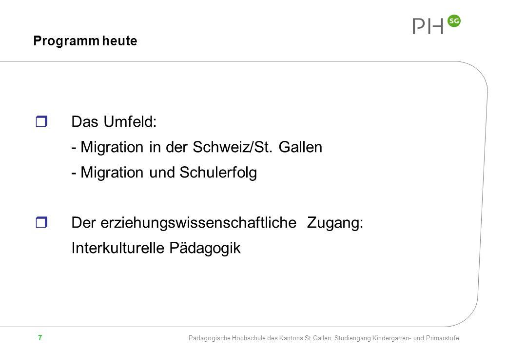 - Migration in der Schweiz/St. Gallen - Migration und Schulerfolg