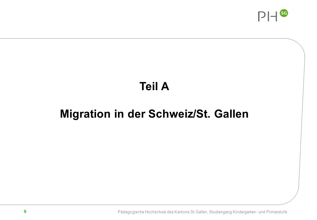 Migration in der Schweiz/St. Gallen