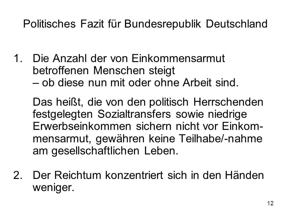 Politisches Fazit für Bundesrepublik Deutschland