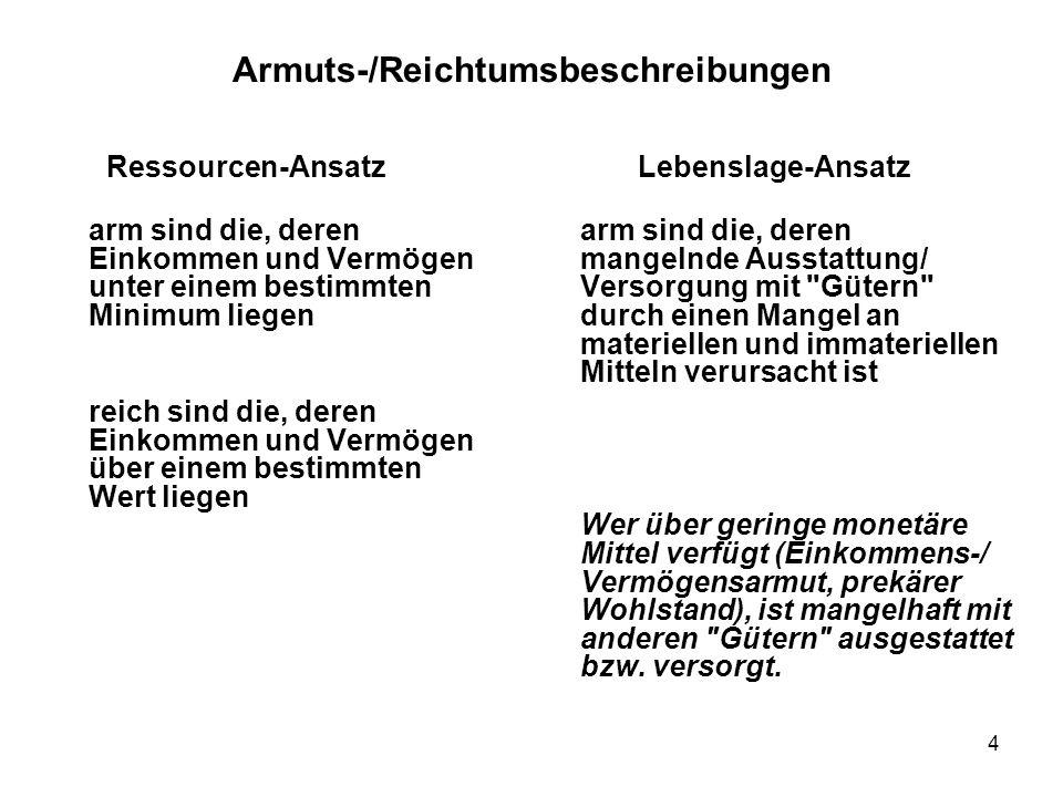 Armuts-/Reichtumsbeschreibungen