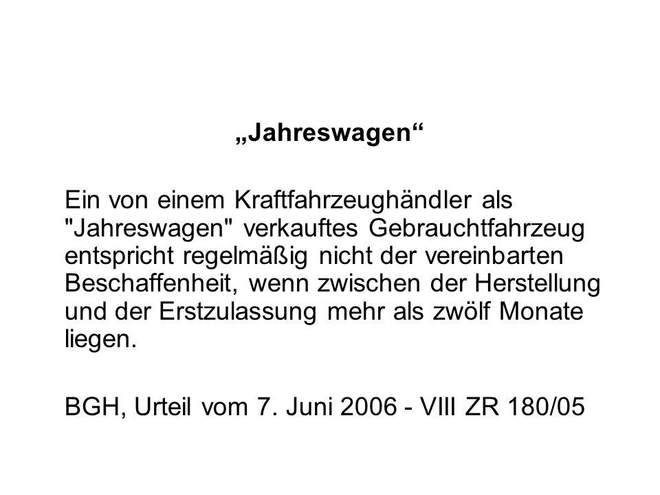 """""""Jahreswagen"""