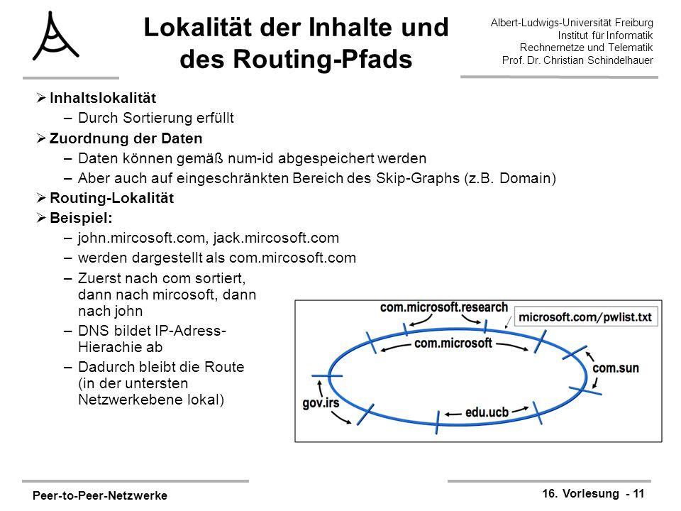 Lokalität der Inhalte und des Routing-Pfads