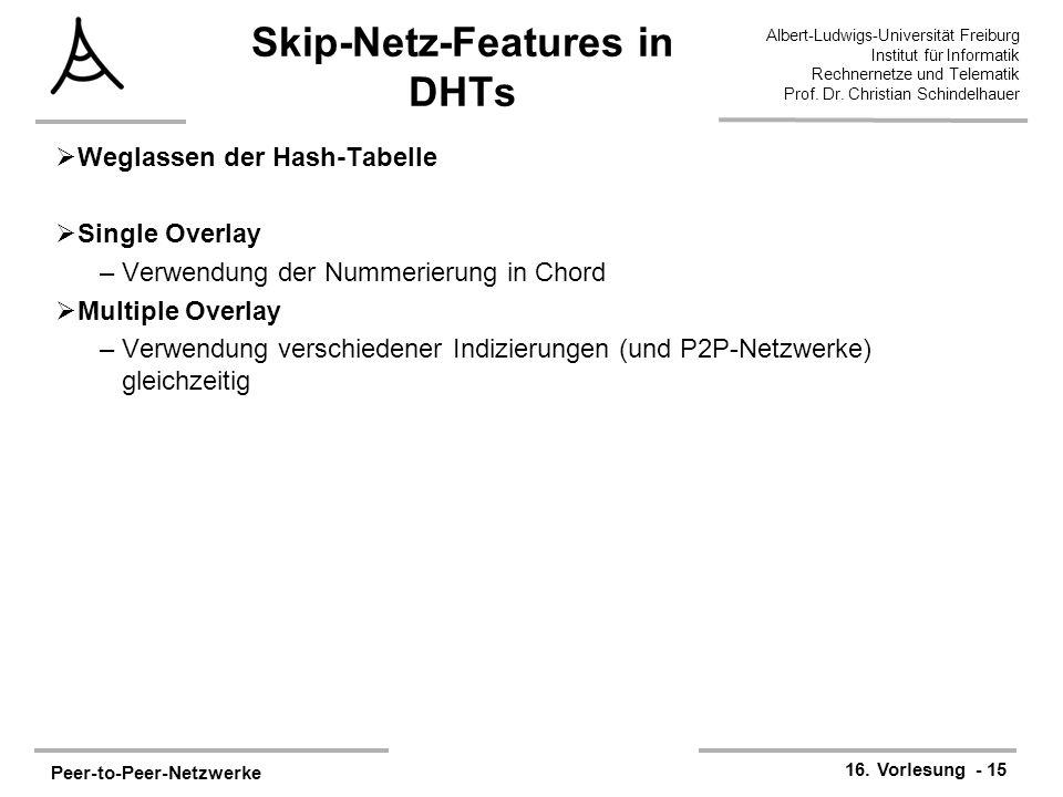 Skip-Netz-Features in DHTs