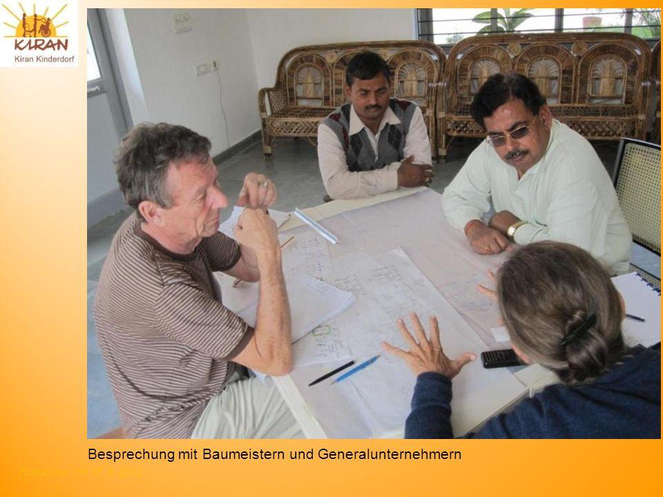 Besprechung mit Baumeistern und Generalunternehmern