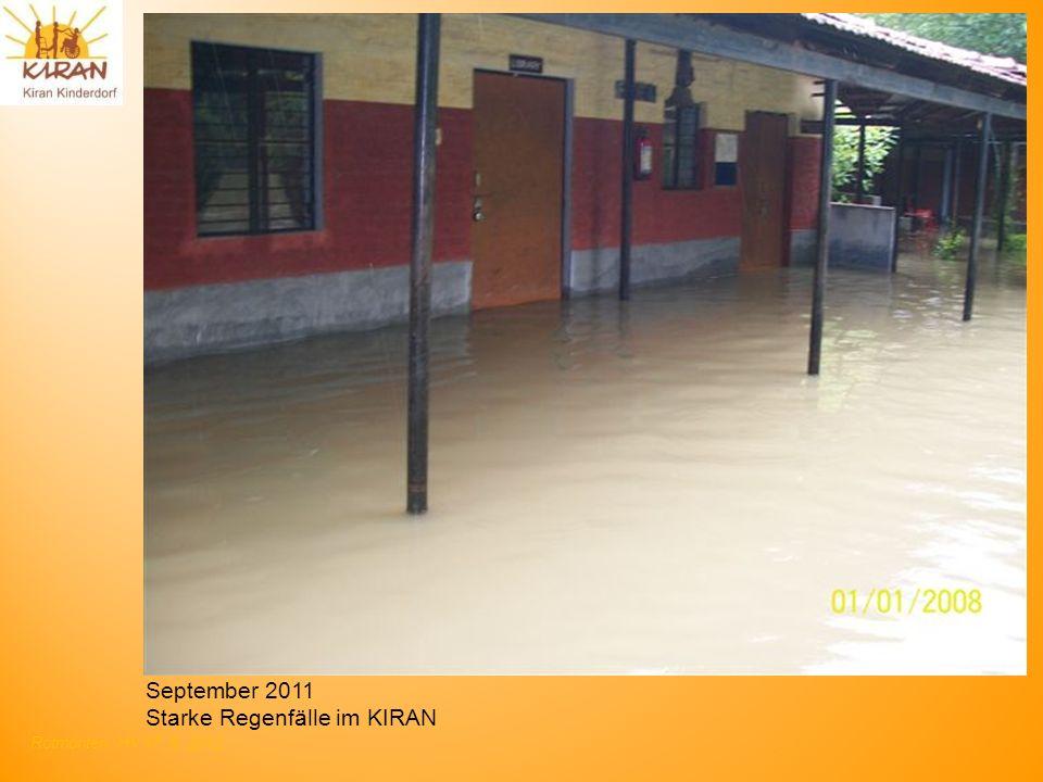 September 2011 Starke Regenfälle im KIRAN