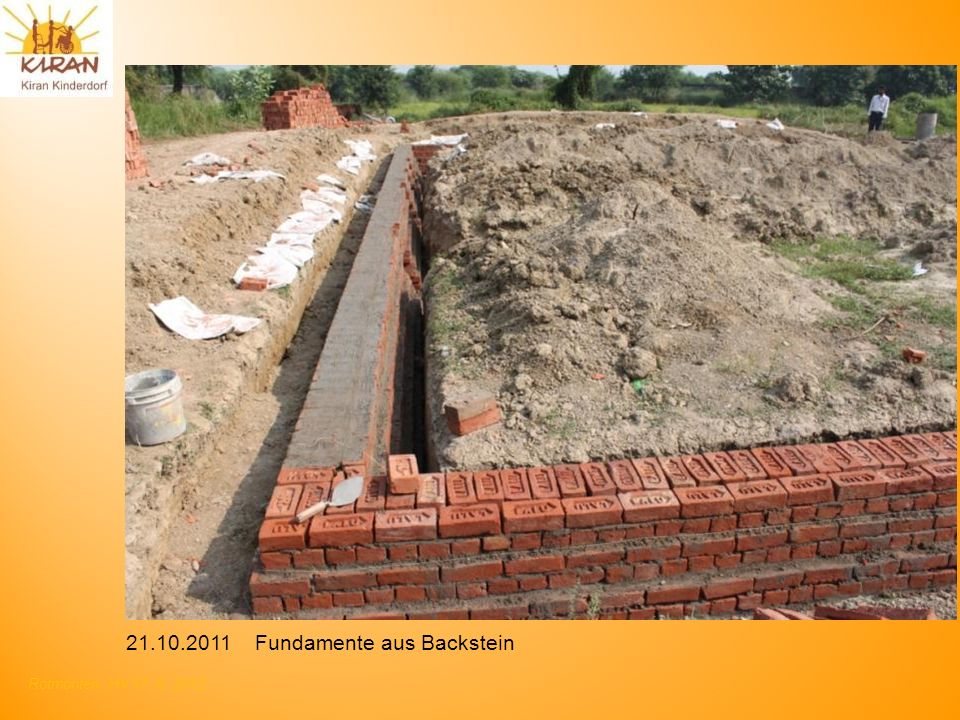 Fundamente aus Backstein
