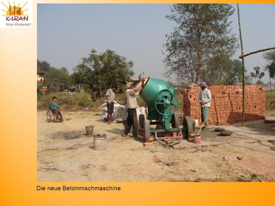 Die neue Betonmischmaschine