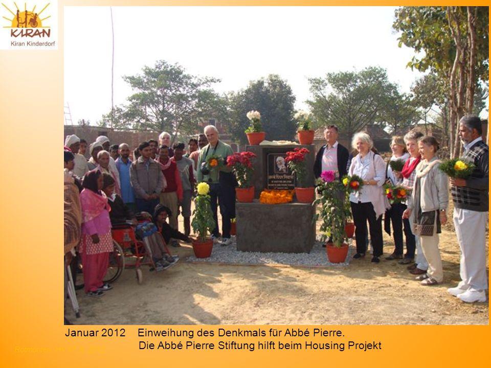 Januar 2012 Einweihung des Denkmals für Abbé Pierre.