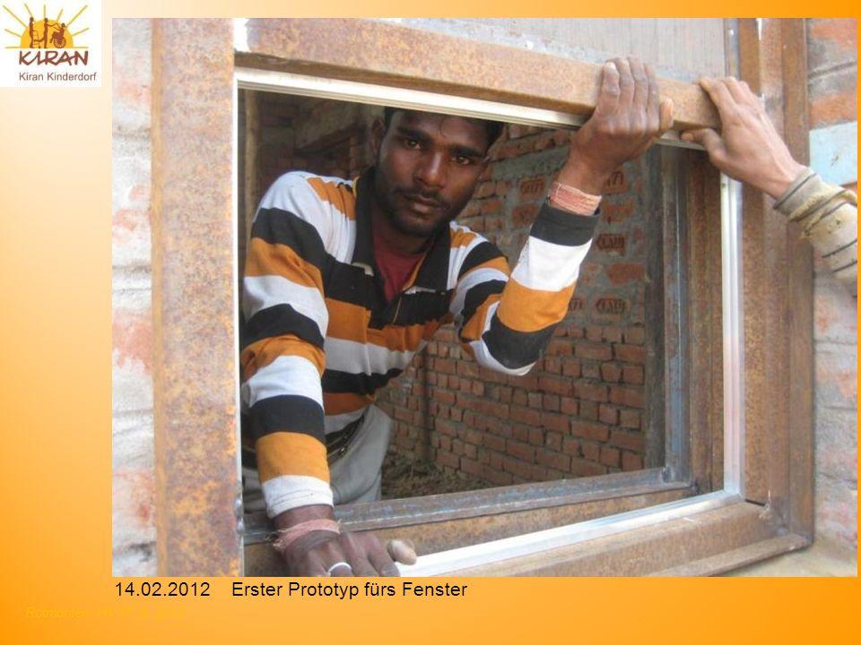 14.02.2012 Erster Prototyp fürs Fenster