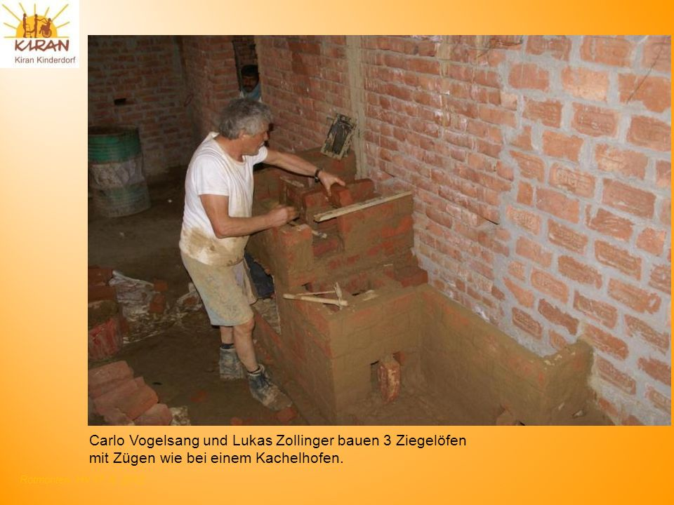 Carlo Vogelsang und Lukas Zollinger bauen 3 Ziegelöfen