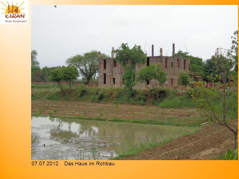 07.07.2012 Das Haus im Rohbau