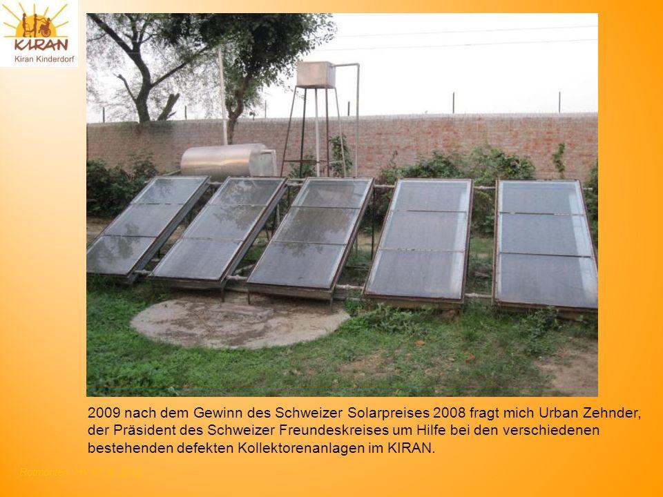 2009 nach dem Gewinn des Schweizer Solarpreises 2008 fragt mich Urban Zehnder,