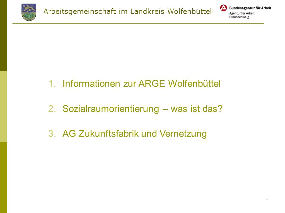 Informationen zur ARGE Wolfenbüttel