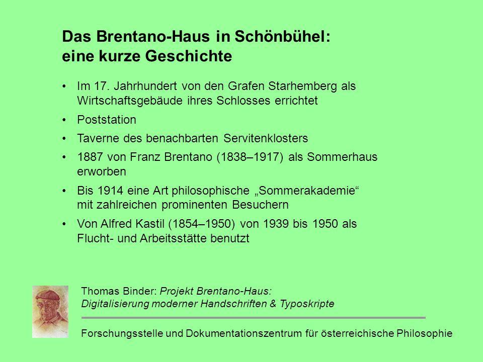 Das Brentano-Haus in Schönbühel: eine kurze Geschichte