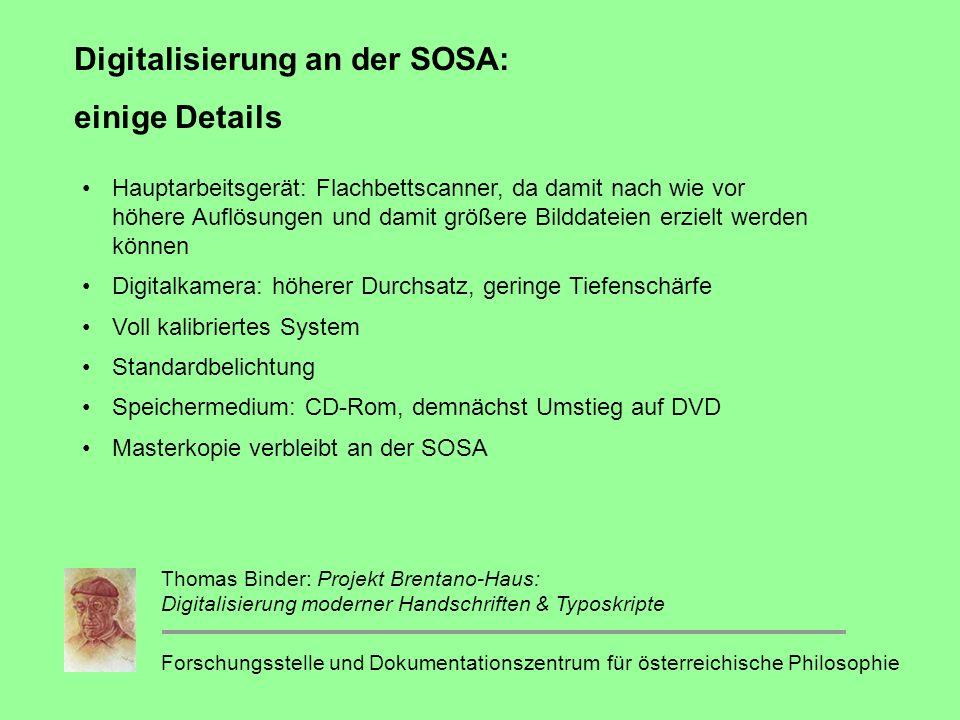 Digitalisierung an der SOSA: einige Details