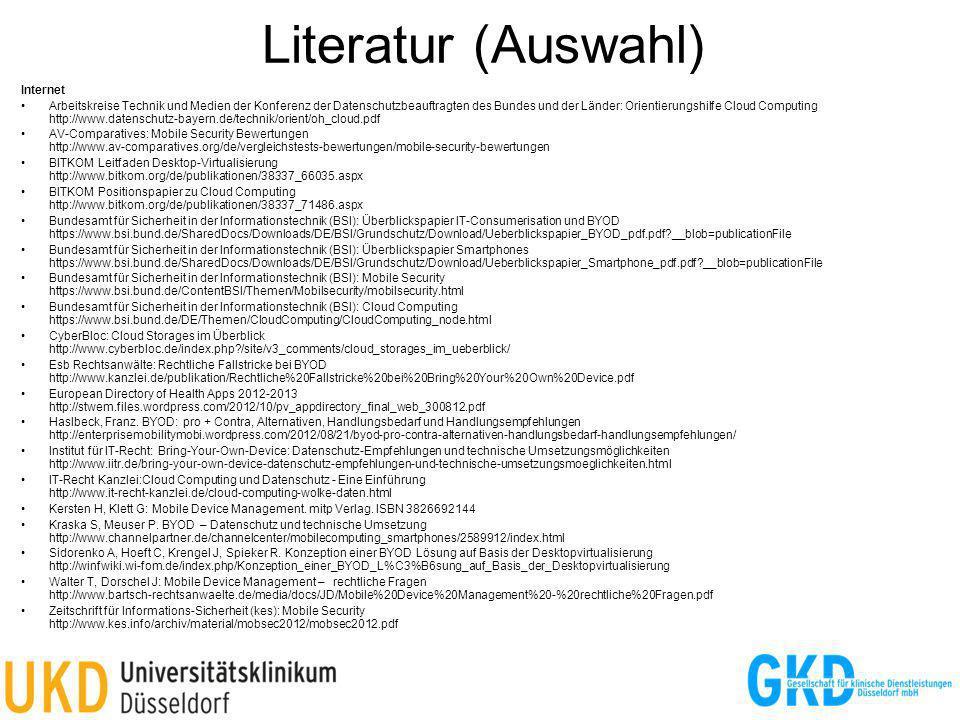 Literatur (Auswahl) Internet