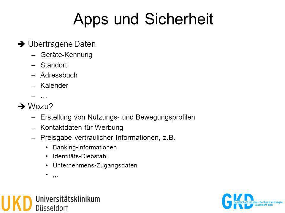 Apps und Sicherheit  Übertragene Daten  Wozu Geräte-Kennung