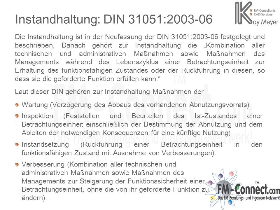 Instandhaltung: DIN 31051:2003-06