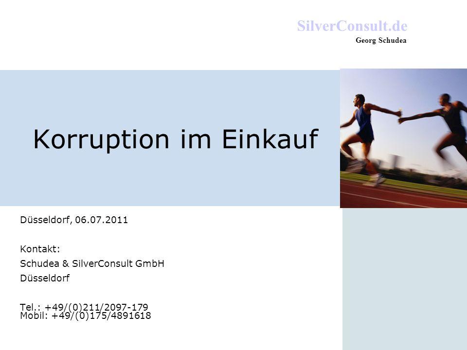 Korruption im Einkauf Düsseldorf, 06.07.2011 Kontakt: