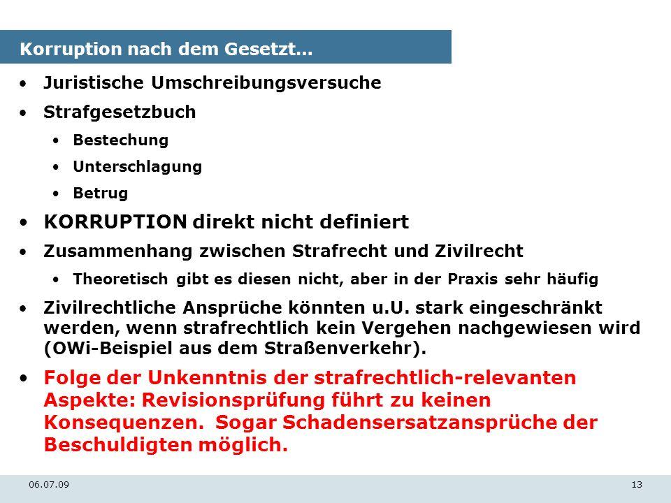 Korruption nach dem Gesetzt…