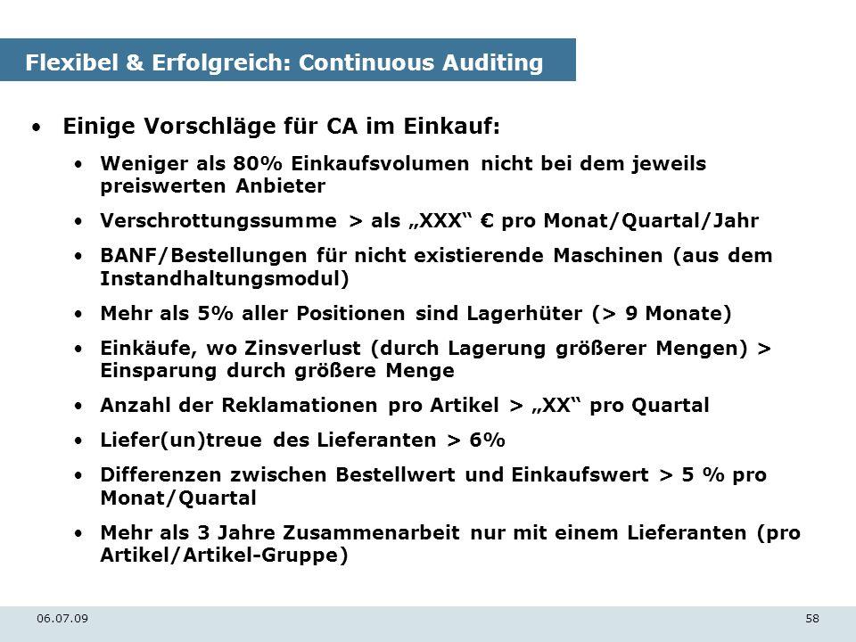 Flexibel & Erfolgreich: Continuous Auditing