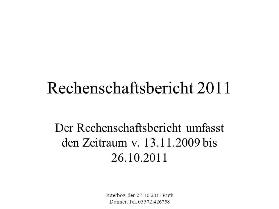 Rechenschaftsbericht 2011