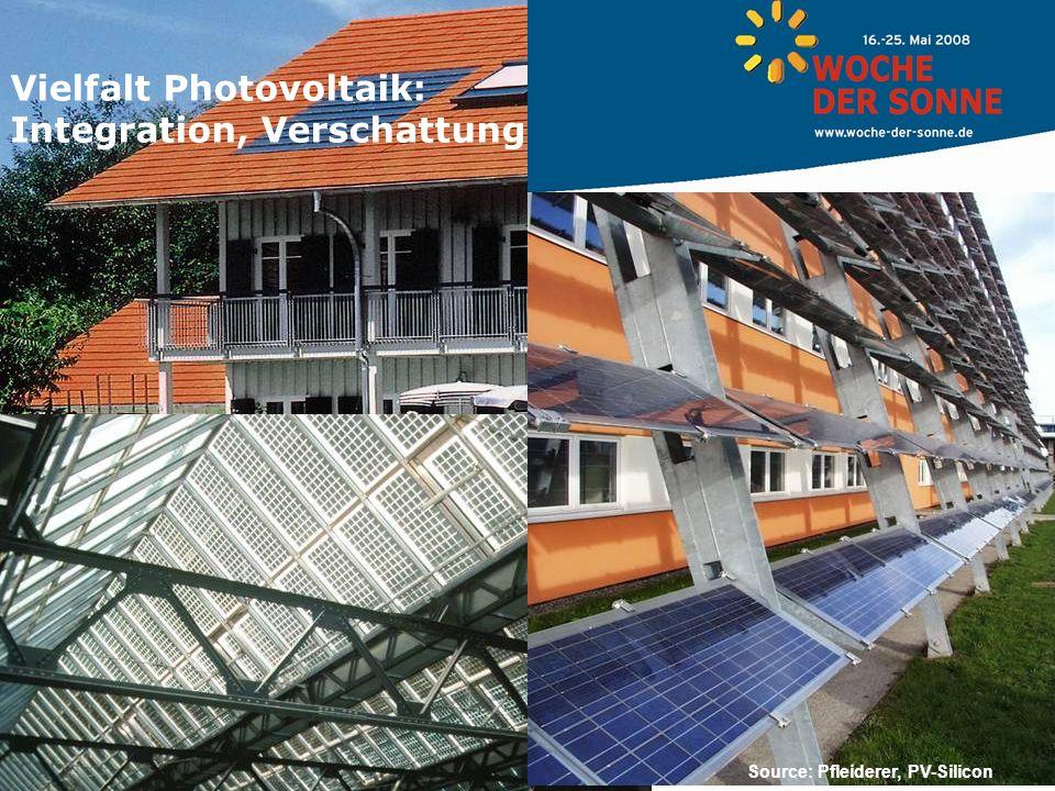 Vielfalt Photovoltaik: Integration, Verschattung