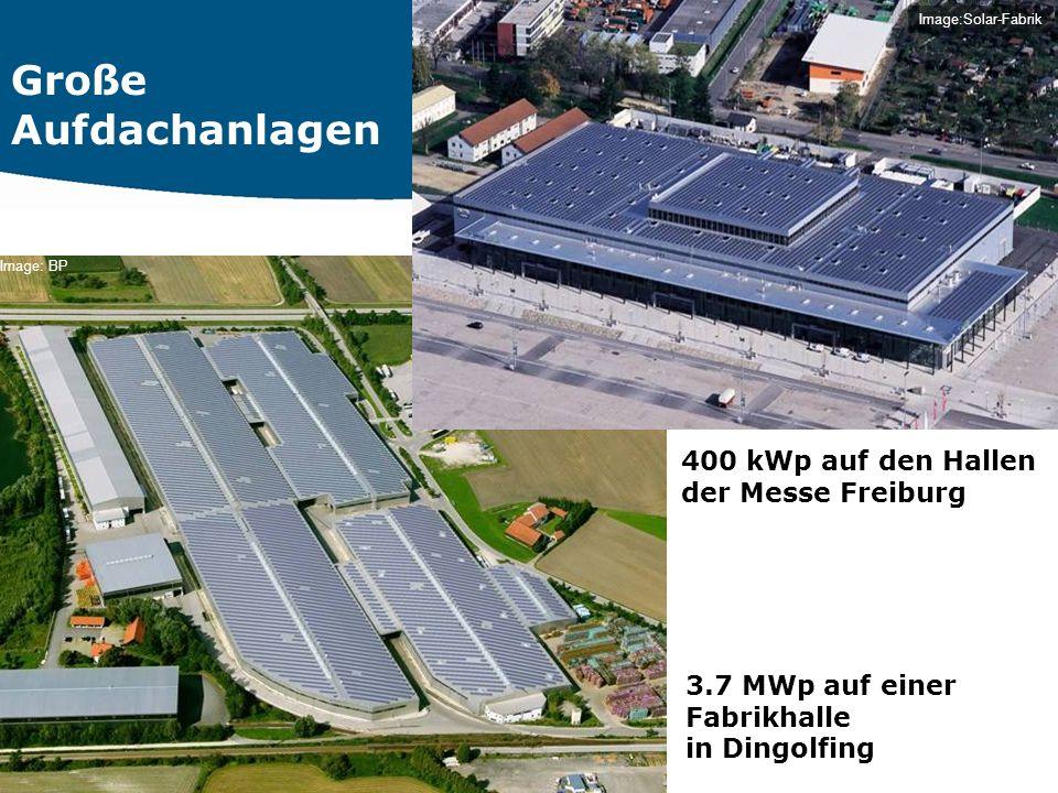 Große Aufdachanlagen 400 kWp auf den Hallen der Messe Freiburg
