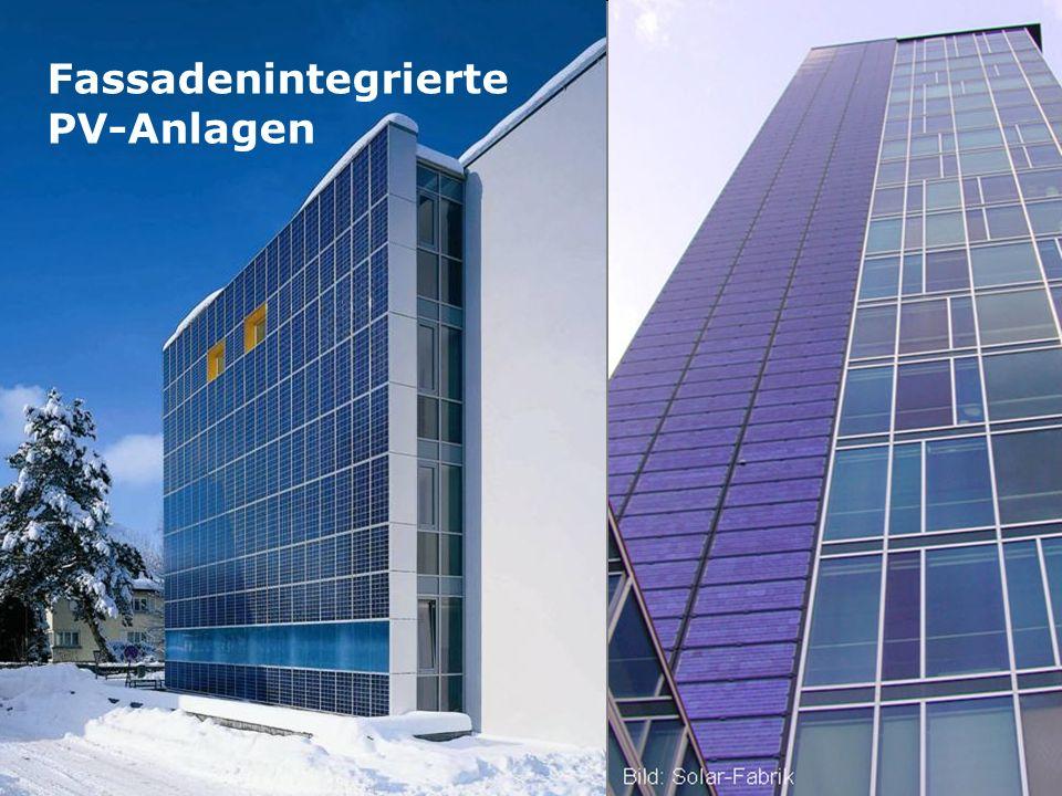 Fassadenintegrierte PV-Anlagen