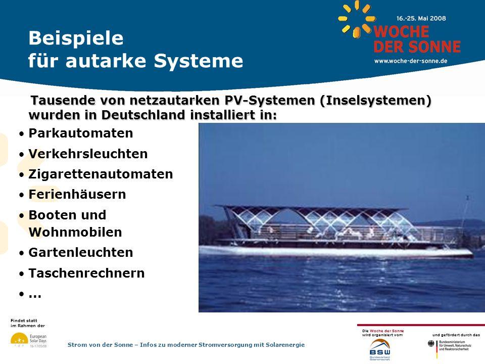 Beispiele für autarke Systeme