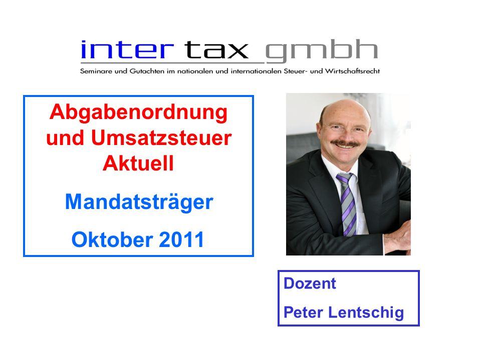 Abgabenordnung und Umsatzsteuer Aktuell