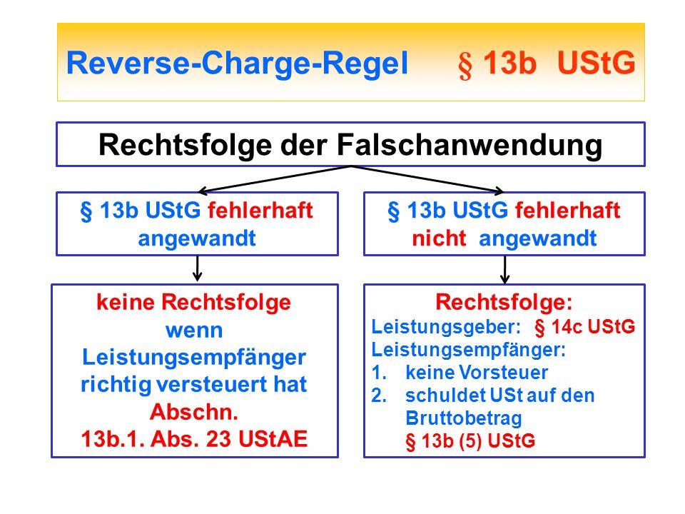Reverse-Charge-Regel § 13b UStG