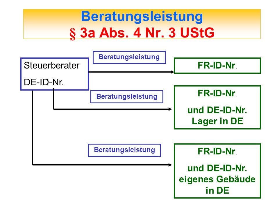 Beratungsleistung § 3a Abs. 4 Nr. 3 UStG