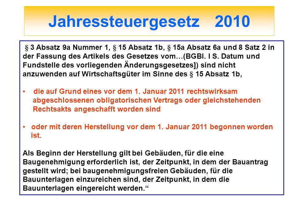 Jahressteuergesetz 2010