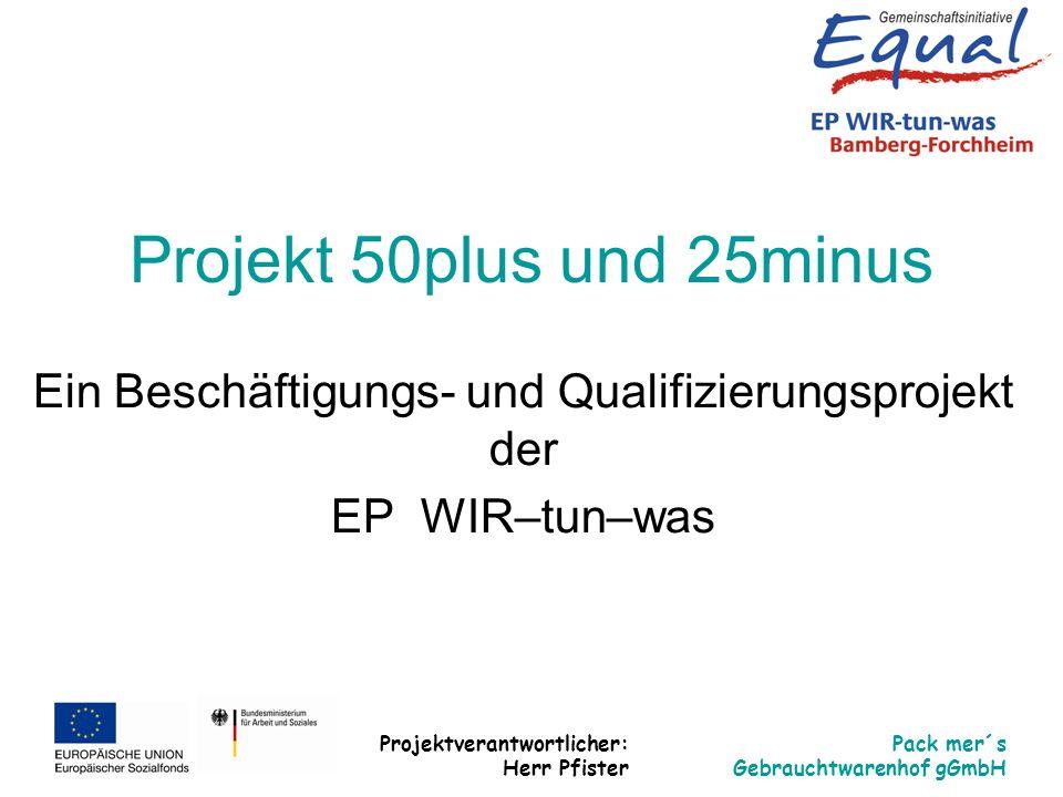 Ein Beschäftigungs- und Qualifizierungsprojekt der EP WIR–tun–was