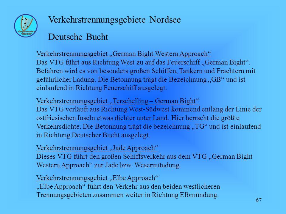 Verkehrstrennungsgebiete Nordsee Deutsche Bucht