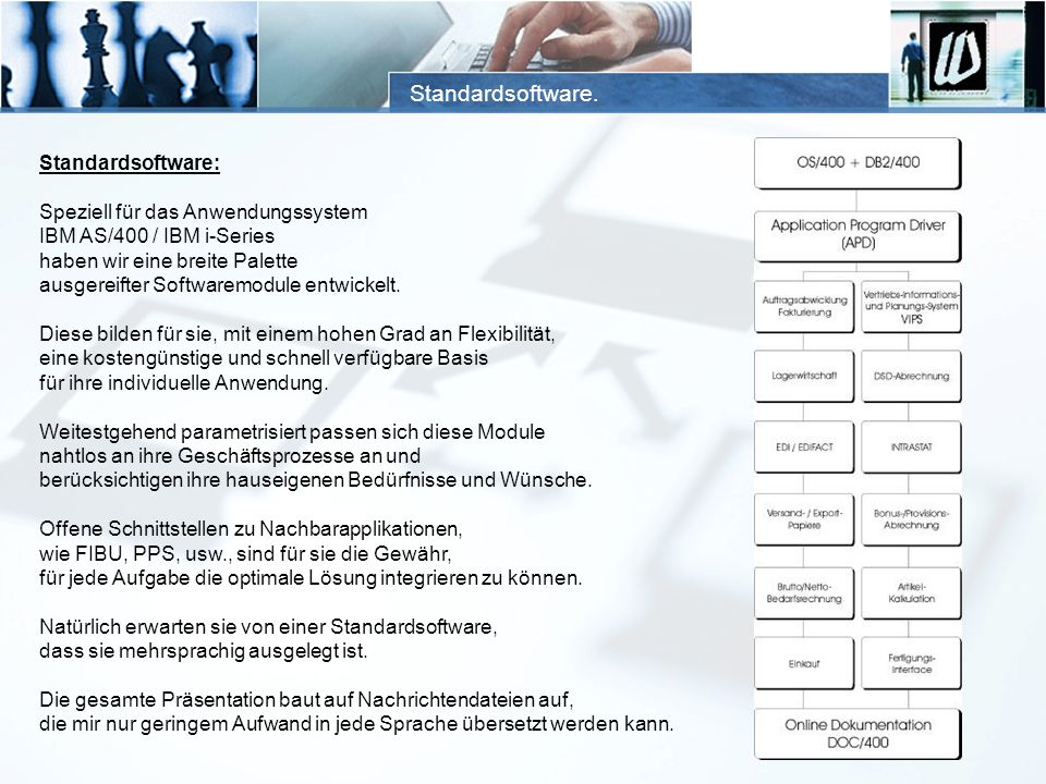 Standardsoftware. Standardsoftware: Speziell für das Anwendungssystem