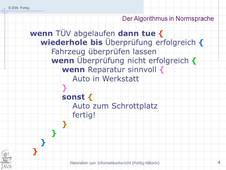 Der Algorithmus in Normsprache