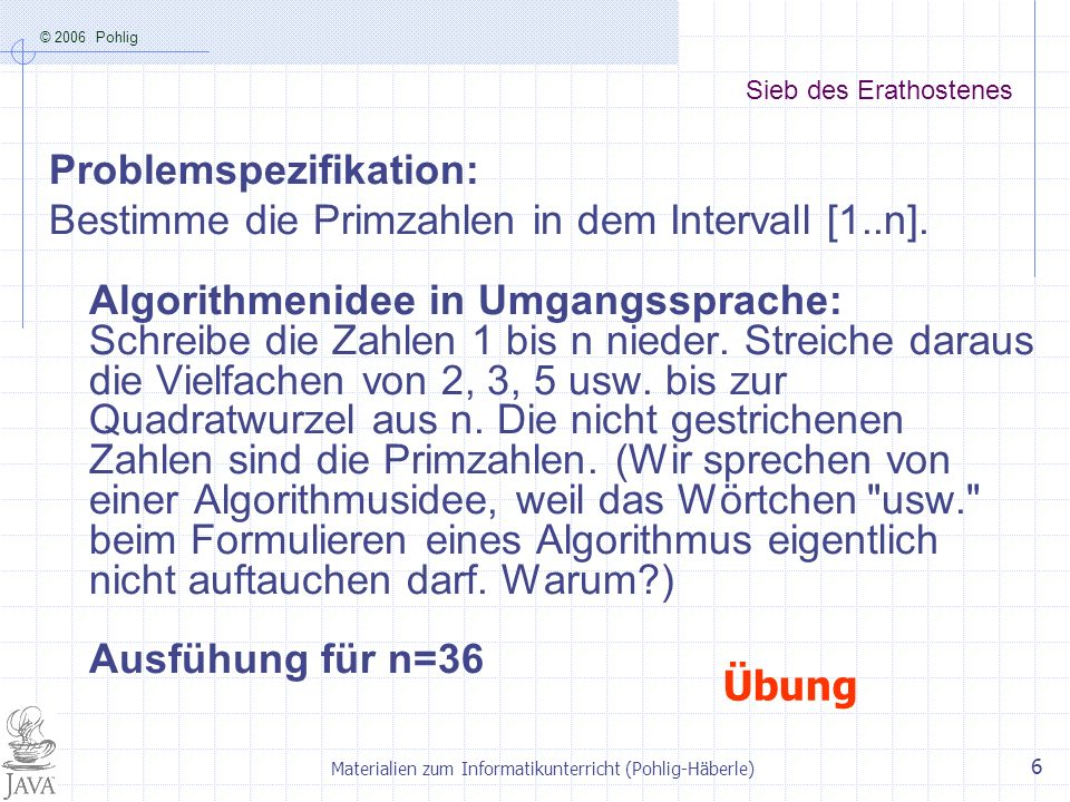Materialien zum Informatikunterricht (Pohlig-Häberle)