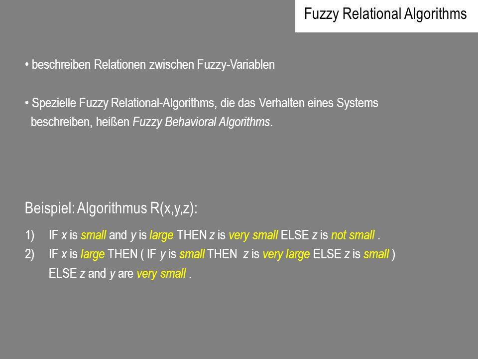 Fuzzy Relational Algorithms