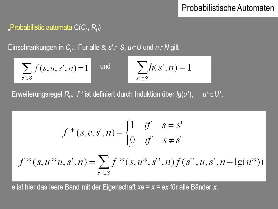 Probabilistische Automaten