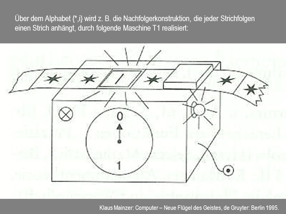 Über dem Alphabet {. ,i} wird z. B