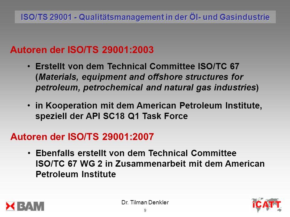 ISO/TS 29001 - Qualitätsmanagement in der Öl- und Gasindustrie